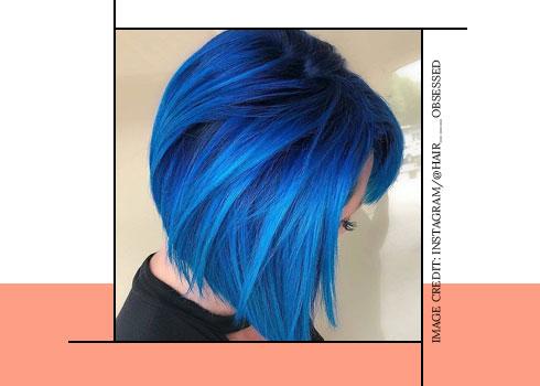 Electric Blue Hair Color