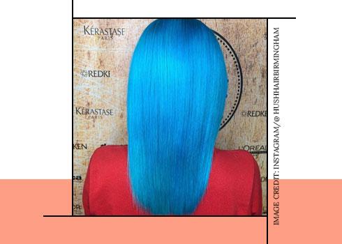 Bubblegum Blue Hair Color
