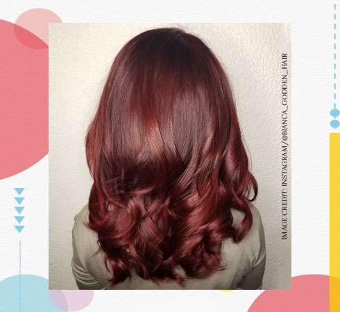 Best Hair Color for Women – Burgundy Red