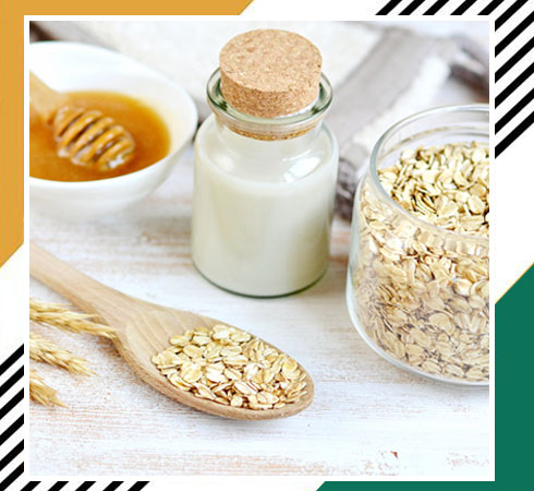 home remedies for facial hair - oatmeal