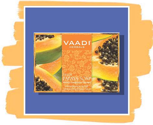 H Papaya soap: Vaadi Herbals Fresh Papaya Soap