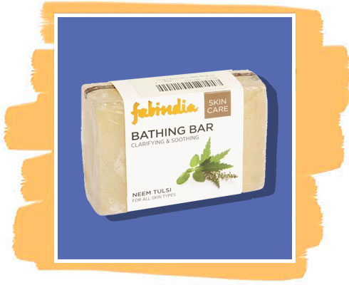 Neem soap: Fabindia Neem Tulsi Bathing Bar