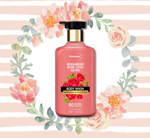 Best Whitening Body Wash– St.Botanica Bulgarian Rose Otto Glow Body Wash