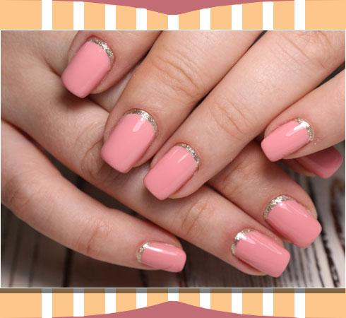 Nail art – reverse french nail art