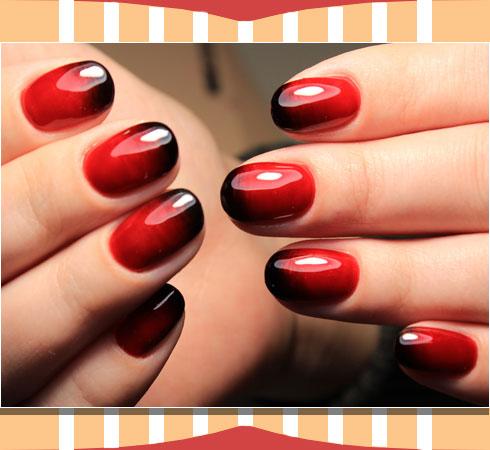 Latest nail art- ombre nail art