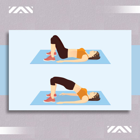 Home exercises to lose weight: Bridge