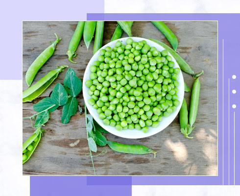 foods that contain zinc- peas