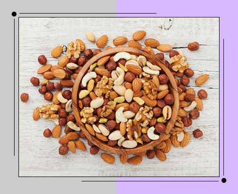 belly fat burning food- nuts