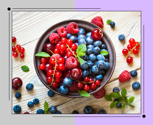 foods to reduce belly fat- berries