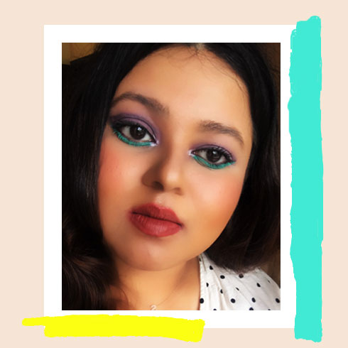 Colorful Makeup Look – Dual-toned eyes