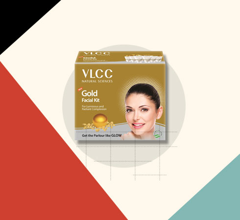 Bridal Facial Kit – VLCC Gold Single Facial Kit for Luminous & Radiant Complexion