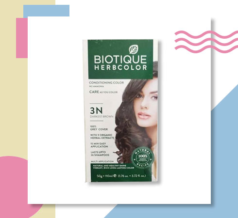 best herbal hair colour- Biotique herbal hair color