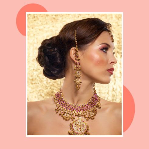 Reception Hairstyles for Lehenga – Braided Bun