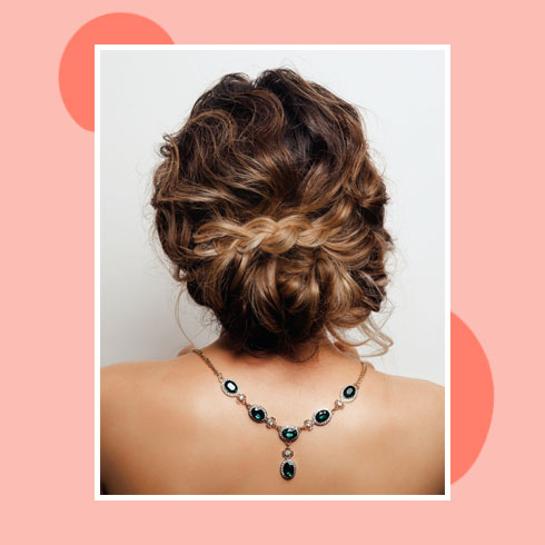 Reception Hairstyles for Gown– Messy Braided Updo