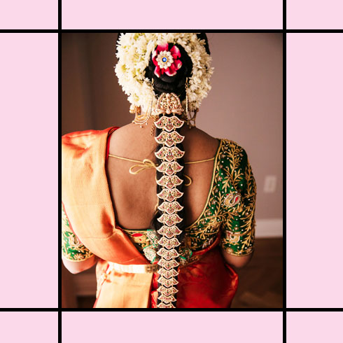 Indian Wedding Hairstyles – Floral Bridal Plait