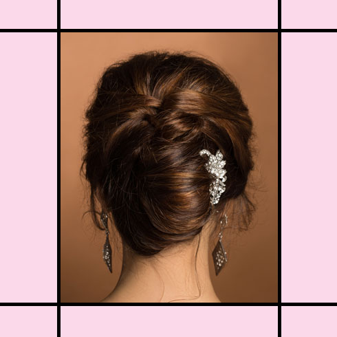 Indian Wedding Hairstyles – French Chignon