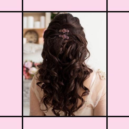 Indian Wedding Hairstyles – Half Up Half Down
