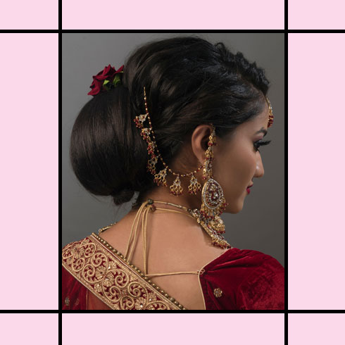 Indian Wedding Hairstyles – Classic Chignon