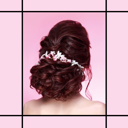 Indian Wedding Hairstyles – Low Bridal Bun With Puff
