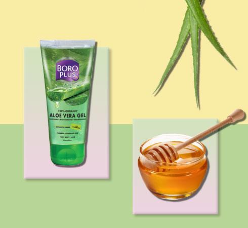 aloe vera and honey for face