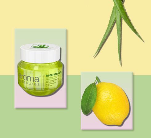 aloe vera and lemon for face