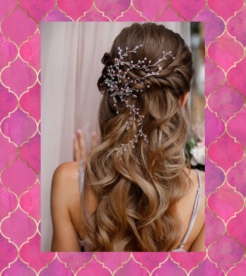 simple wedding hairstyles – accessorized half updo