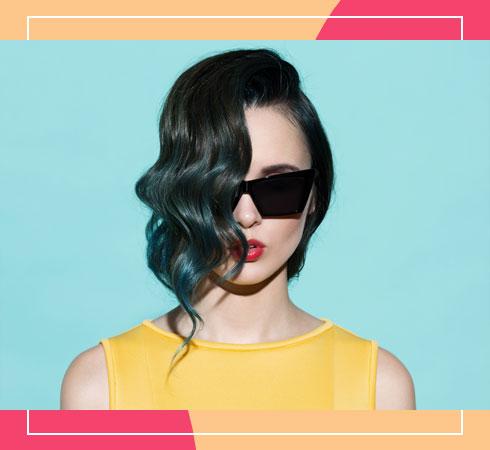 Medium length haircuts for thin hair- asymmetrical lob with highlights