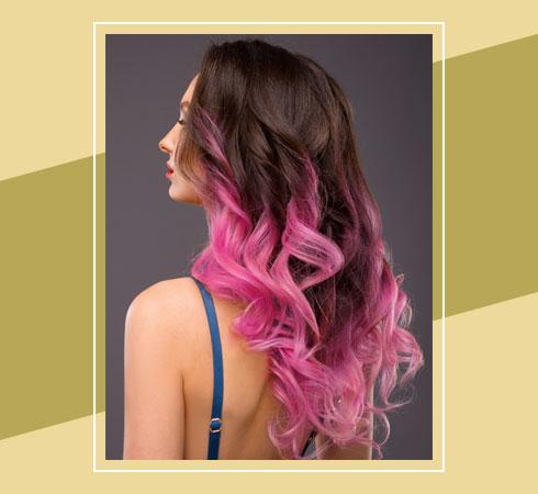 Pink Highlights On Black Hair