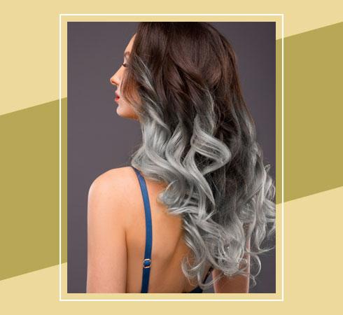 Black Hair With Grey Highlights