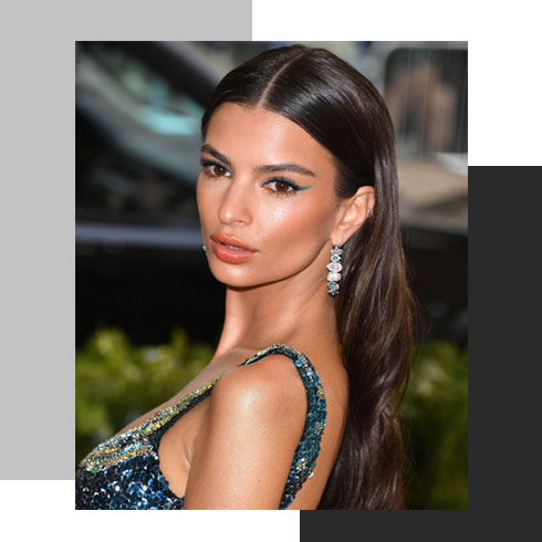 simple hairstyles for long hair – slick back