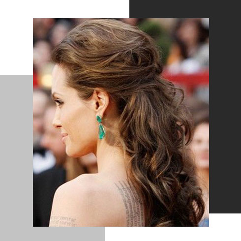 simple hairstyles for long hair – half braided knot