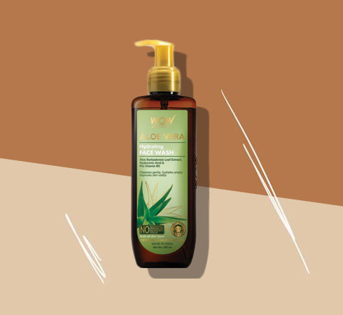 Best Face Wash For Dry Skin -WOW Skin Science Aloe Vera Face Wash