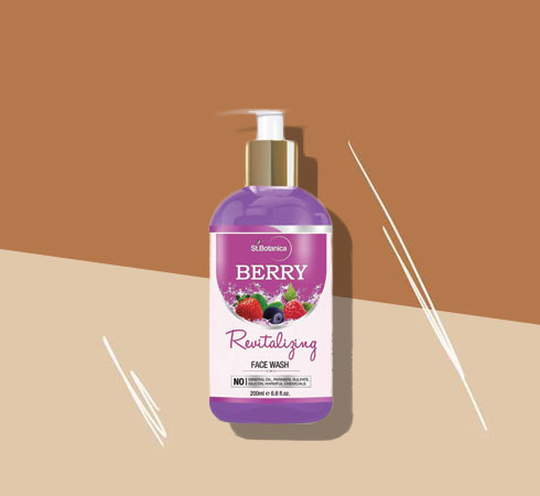 Best Face Wash For Dry Skin -St. Botanica Berry Revitalizing Face Wash