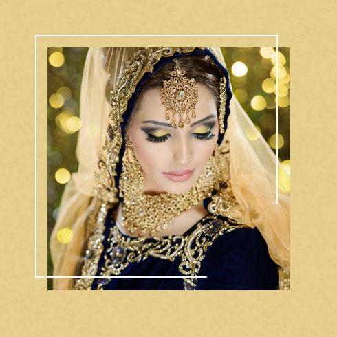 bridal eyeshadow - golden eye makeup