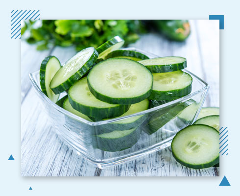 how to remove pimple from forehead with cucumber