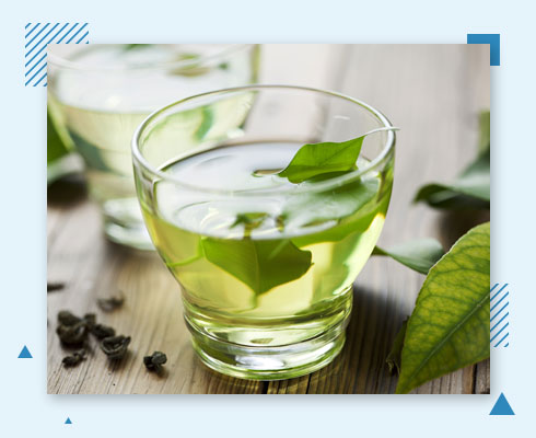 home remedies for pimple on forehead- green tea