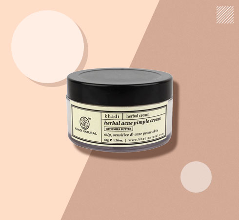 pimple spot removal cream from Khadi