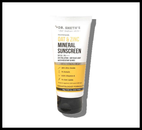 mineral sunscreen – dr sheth's