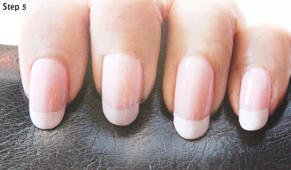 5 Step French Manicure Nails-Quick & Easy French Manicure Nail Art