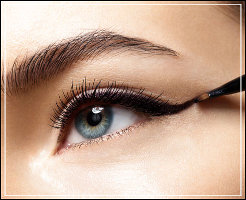 Types of eyeliner- gel eyeliner