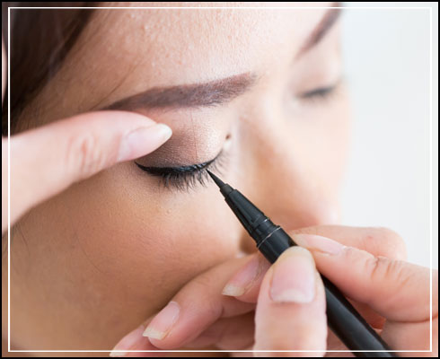 Types of eyeliner- sketch pen eyeliner