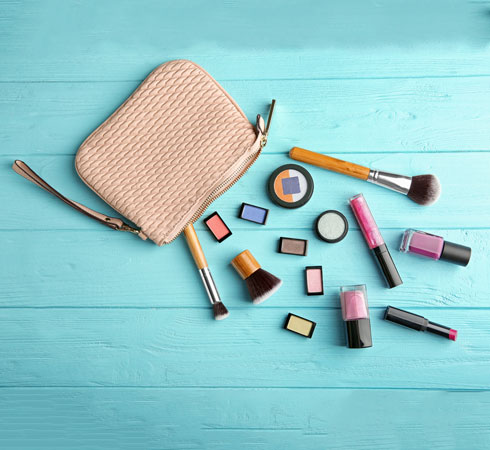 how to clean makeup cases/bags