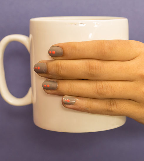 4 doable nail arts with Nykaa Nude Polish - 3
