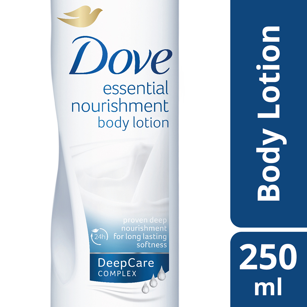 Dove Essential Nourishment Body Lotion  available at Nykaa for Rs.243