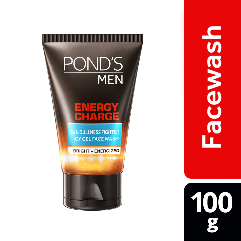 Ponds Men Energy Charge Icy Gel Face Wash, 100g