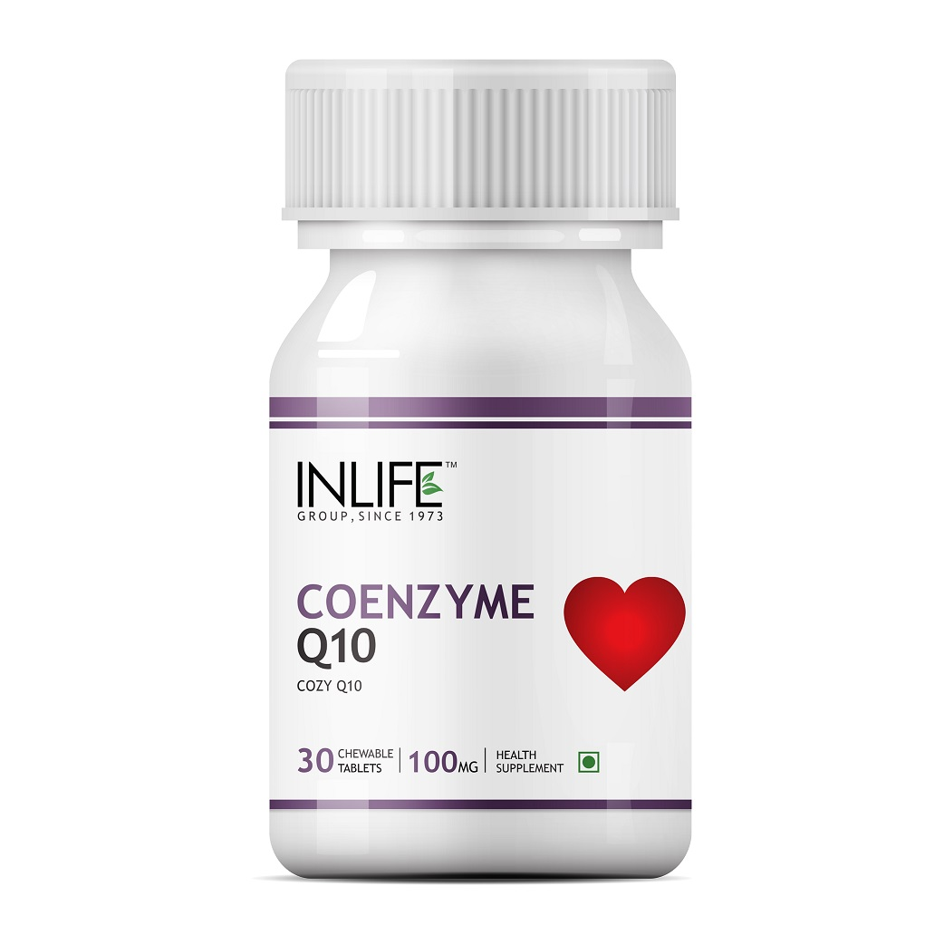 INLIFE Coenzyme Q10, 100mg 30 Chewable Tabs Fertility Supplement For Male Female