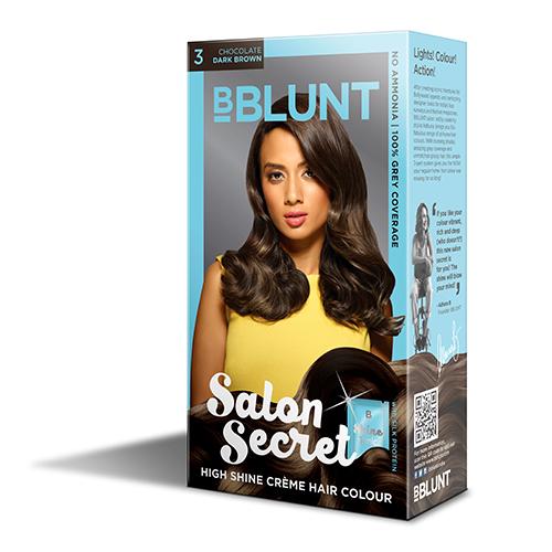 BBLUNT Mini Salon Secret High Shine Creme Hair Colour - Chocolate Dark Brown 3