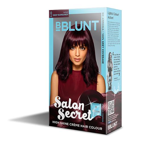 BBLUNT Mini Salon Secret High Shine Creme Hair Colour - Wine Deep Burgundy 4.20