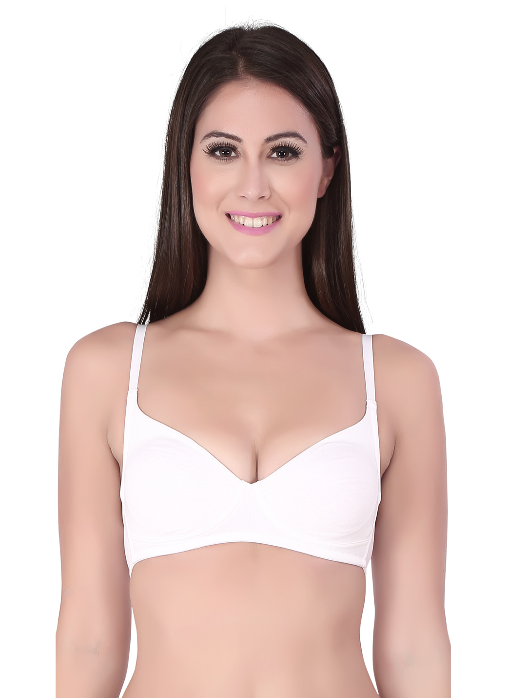 Soie Non-Padded, Non-Wired Demi Cup Bra - White  available at Nykaa for Rs.174