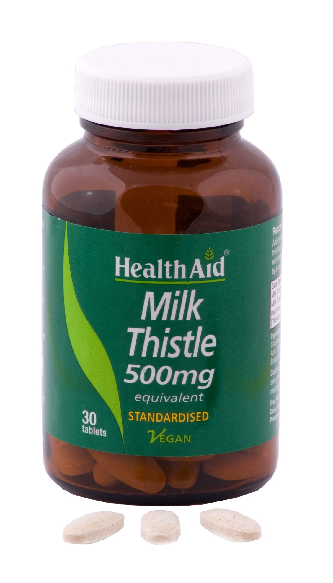 HealthAid Milk Thistle 500mg - Equivalent - 30 Tablets  available at Nykaa for Rs.964